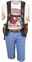 2500LH  Stronghold SuspendaVest [Left Handed] occidental leather, suspenders, tool belt suspenders,  occidental suspenders, 2500lh