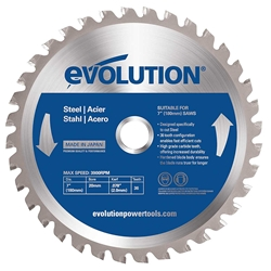 "Evolution 7"" Steel Blade steel saw blade, evolution steel blade"