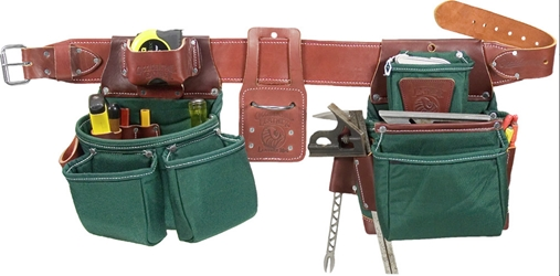 Occidental 8080DBLH Oxy Lights Pro Framer- Nylon Tool Belt [Left Handed] occidental leather, left handed tool belt, leather tool belts, toolbelts, tool belt, 8080DBLH