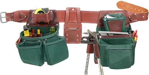 8089LH Oxy Lights  7 Bag Framer Tool Belt system [Left Handed] left hand tool belt, leather tool belts, toolbelts, tool belt, 8089LH
