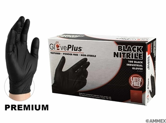 Industrial Grade Black Nitrile Gloves (Box of 100) Black Nitrile Gloves