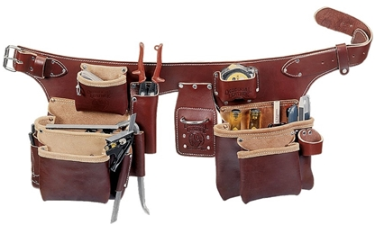5191 Pro Carpenters 5 Bag Toolbelt Assembly occidental leather, tool belt, leather tool belts, toolbelts, tool belt