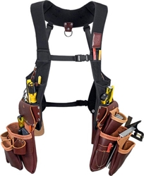 2550 SuspendaVest™ Leather Package occidental leather, suspenders, tool belt suspenders,  occidental suspenders