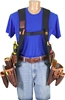 2550LH SuspendaVest™ Leather Package [Left Handed] occidental leather, suspenders, tool belt suspenders,  occidental suspenders, 2500LH