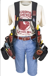2580LH  SuspendaVest  OxyLights  Package [Left Handed] occidental leather, suspenders, tool belt suspenders,  occidental suspenders