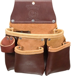 5017DBLH 3 pouch Leather Tool Bag   [Left Handed] occidental leather, tool belt, leather tool belts, toolbelts, tool belt, 5017dbLH