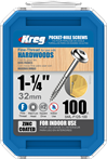 Kreg 1-1/4-Inch 7-Fine Washer-Head Pocket Screws, 100-Count Kreg SML-F125-100 1-1/4-Inch 7-Fine Washer-Head Pocket Screws, 100-Count