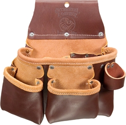 5017DB 3 pouch Leather Tool Bag   occidental leather, tool belt, leather tool belts, toolbelts, tool belt