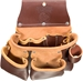 5017DB 3 pouch Leather Tool Bag   - Occidental 5017DB Leather Tool Bag