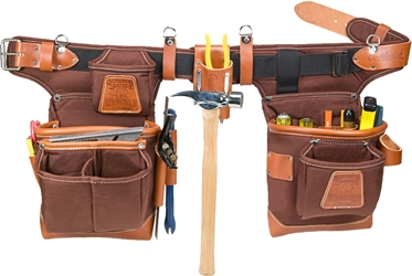 9855 Adjustable Fat Lip Tool Belt (Cafe) occidental leather, tool belt, leather tool belts, toolbelts, tool belt, 9855