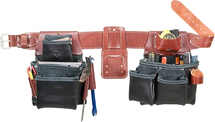 B5080DB Pro Framer Toolbelt System (Black Leather) occidental leather, tool belt, leather tool belts, toolbelts, tool belt