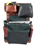 B5611 Black Leather Fastener Bag occidental leather, tool belt, leather tool belts, toolbelts, tool belt