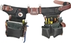 B9588 Adjustable Green Builder, Black Leather Tool Belt System occidental leather, tool belt, leather tool belts, toolbelts, tool belt, B9588