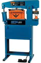 "METAL PRO 45 Ton IRONWORKER with 12"" Shearing Station and Foot Switch ironworker machine, metalpro ironworker, metal pro"